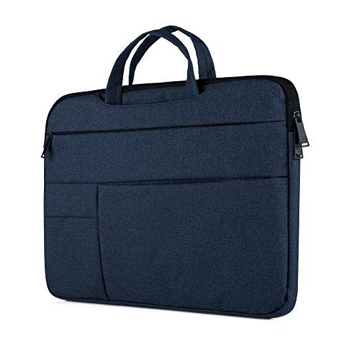 "Y-master 14-15,4 Zoll Laptophülle Sleeve Case elegant dünn für Lenovo Dell Acer Asus Macbook Toshiba und andere 14-15.4"" Ultrabooks Notebooks, Navyblau"