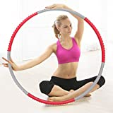 cusfull Beschwerter Hula Hoop 2,2Pfund Profi für Fitness, Training und Gewicht Verlust, 6-segmented, leicht Metallkonstruktion ABS Schaumstoff gepolstert Workout für Erwachsene und Kinder