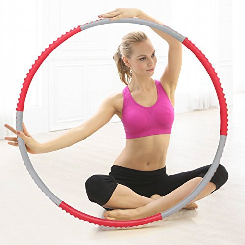 cusfull-foam-padded-weighted-fitness-hula-hoop-detachable-1kg-22lbs-for-adults-kids-rose-grey