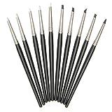 Hard Bone Harter Knochen-Kautschuk-Stift Werkzeuge für Ton, 10 Stück, weiche Silikon-Polymer-Clay, Gummi-Stift für Tonformen, Modelliermasse, Bastelwerkzeuge, 15 cm