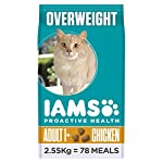 Iams ProActive Health Complete and Balanced Cat Food with Chicken for Sterilised and Overweight Cats, 2.55 g[Old Model] 4