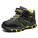 Kinder Wanderschuhe Jungen Warm Gefüttert Winterschuhe Trekking Outdoor Schuhe mit Klettverschluss Gr.31-39