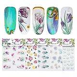 Professional Nail Art Tools Manicure Set 5 pz 5D inciso chiodo adesivo serie di fiori modello decalcomanie autoadesivo in rilievo in rilievo Art Decoraion fai da te Forniture per Unghie Strumenti per