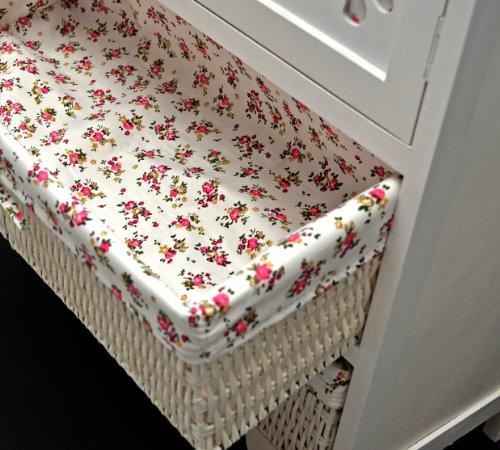 Country House Dresser disimpegno mobiletto del bagno 60 x 73 cm Mensola credenza con legno decorazione intaglio - 5
