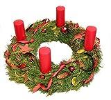 Adventskranz, dieser Weihnachtskranz *Deluxe* ist 60cm im Duchmesser, Zu Weihnachten gehört ein wunderschöner Kranz mit 4 roten Kerzen auf den Tisch Size 135 Euro