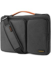 Tomtoc Original 360° Protective Laptop Shoulder Bag Sleeve Case, Two Accessory Pockets & Attachable Shoulder Strap