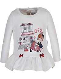 Bebé Mini Girls Step Into London Niñas Camisa de entrenamiento, blanco