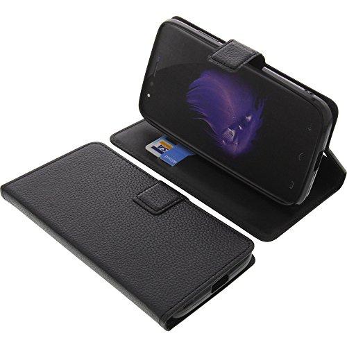 foto-kontor Tasche für HomTom HT50 Book Style schwarz Schutz Hülle Buch