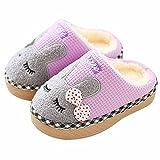 SITAILE Jungen Mädchen Winter Pantoffeln Slippers Schuhe mit Plüsch Gefüttert Wärme Weiche Rutschfeste Hausschuhe für Kinder Baby Home
