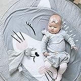 Ustide Baby Rugs strisciante striscianti Cartoon Sleeping tappeti, tappetini Antiscivolo Gioco Bambini Cotone Pavimento Tappeto da Gioco Coperta Play Ambientale Carpet Kids Room Decor 95x 95cm Cat