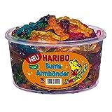 Haribo Braccialetti, Bracciali Gommosi, Caramelle alla Frutta, Dolciumi, 75 Pezzi, 1200 g Barattolo