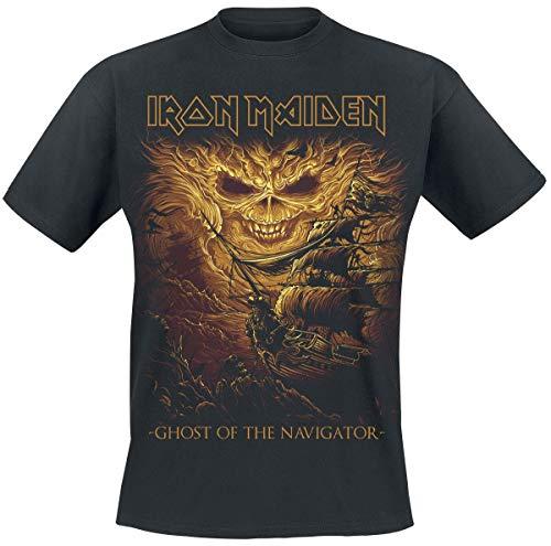Iron Maiden Ghost Of The Navigator Camiseta Negro XL