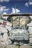 Posterlounge Leinwandbild 20 x 30 cm: East Side Gallery, Berlin von Hans-Peter Merten/Robert Harding - fertiges Wandbild, Bild auf Keilrahmen, Fertigbild auf Echter Leinwand, Leinwanddruck