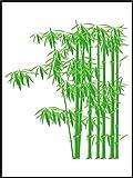 Fliesenaufkleber Fliesentattoos für Bad & Küche - für weiße Fliesen empfohlen - Küchenfliesen für einzelne Fließen 20x25 cm - MD172 - beeindruckenden Bambus