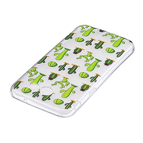 Qiaogle Telefon Case - Weiche TPU Case Silikon Schutzhülle Cover für Apple iPhone 7 / iPhone 8 (4.7 inch) - LF28 / Pferd LF19 / Cactus