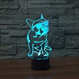 Mddjj 7 Farbwechsel Farbverlauf Kind Nacht Schlafende Nachtlicht Luminarias Cartoon Mit Brille Cool Dog Touch Button Lampe Baby Geschenke Schlafzimmer Licht