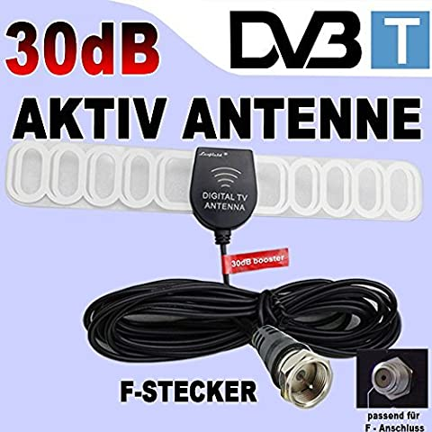 KFZ Digital Aktiv 30dB Antenne für DVB-T Auto TV Tuner/Receiver mit