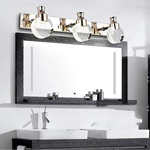 WENYAO Spiegel frontleuchte Bad Moderne einfache led kristall wasserdicht Nebel Bad Wandleuchte kosmetikschrank Spiegel spiegelleuchte Spiegel Scheinwerfer nie rost (Farbe: weißes licht-3) -