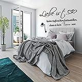 Wandtattoo AA333 Wandaufkleber Schlafzimmer ++ Liebe ist beim Aufwachen festzustellen dass es kein Traum war. Sprüche Zitate