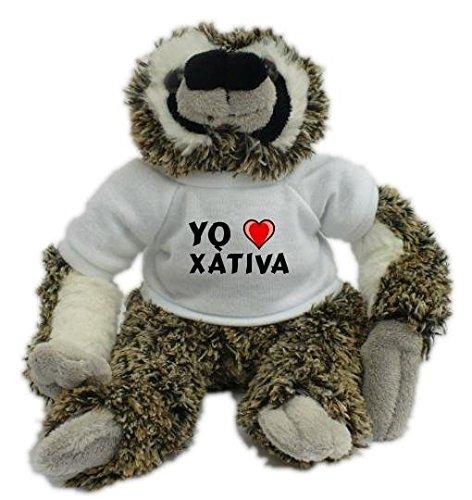 Shopzeus Bradypus de peluche con Amo Xàtiva en la camiseta...