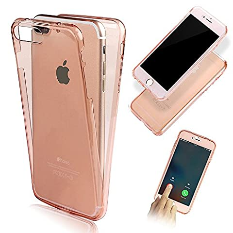 Front and Back Full Protection TPU Silicone Case Cover for Apple iPhone 6S 6 4.7 inch-Vandot Ultra Slim Fit Clear 360 Degree Full Body Soft Rubber Gel Shockproof Protective Shell-Transparent Rose