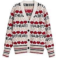 Geili Damen Langarmshirt Strickjacke Brief Drucken Strickmantel Kimono Cardigan Cover Up Outwear Pullover Sweater... preisvergleich bei billige-tabletten.eu