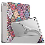 MoKo Cover per New iPad Mini 5 2019 (5th Generation 7.9 inch)/ iPad Mini 4 2015, Custodia Ultra Sottile Leggero Tri-Fold Auto Sveglia/Sonno con Retro Semi-Trasparente in TPU - Datura rombica