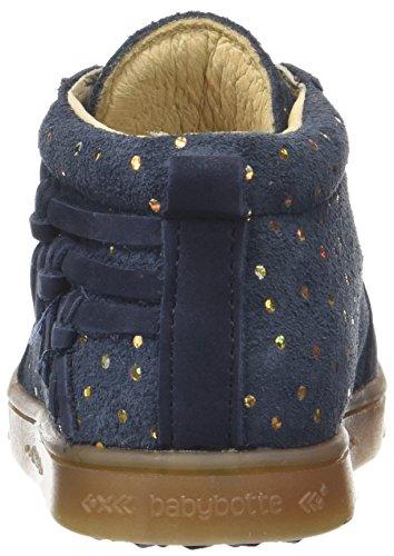 Babybotte Ambada, Baskets Hautes Fille Bleu (Marine Or)