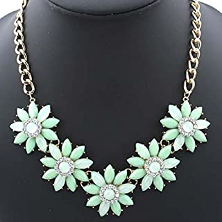 atdoshop(TM) 1PC New Fashion Women Ladies Crystal Rhinestone Teardrop Necklace Shiny Pendant (Green)