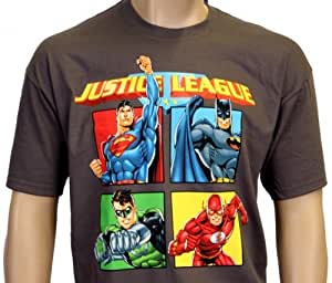 justice league t shirt xl superhelden batman superman gr ne laterne und flash t shirt. Black Bedroom Furniture Sets. Home Design Ideas