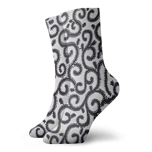 best pillow Black And White Ankara African Pattern Colorful Crazy Crew Socks Comfortable Novelty Socks 11.8 inch