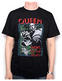 Queen T Shirt - News Of The World Retro Distressed Design 100% Official