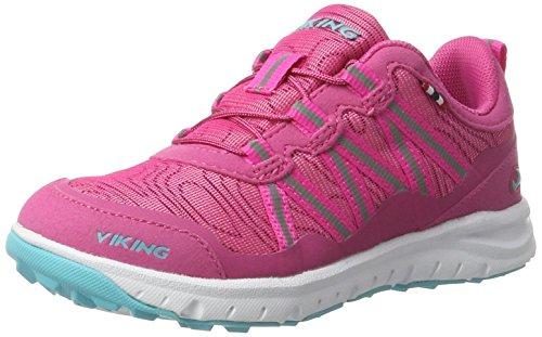 Viking Kollen, Chaussures Multisport Outdoor mixte enfant Pink (Magenta/Turquoise)