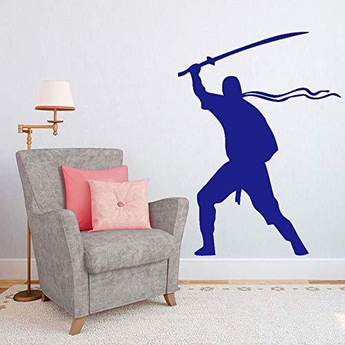 Kunst Wanddekor Abnehmbare Vinyl Aufkleber Krieger Wandaufkleber Für Wohnzimmer Kinder Dekorationen Solider Armee Kreatives Design Poster ~ 1 32 * 44 cm -