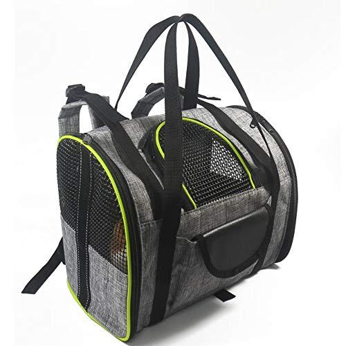 H_y Haustier-Reise-Tragetasche, Airline-zugelassener weicher mit Seiten versehener Rucksack sicherer tragbarer Ineinander greifen-Fensterkäfig für Hundewelpen-kleines Tier