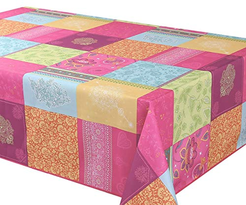 SmileDeco Nappe Anti-Taches Bollywood Rectangulaire 145x240cm