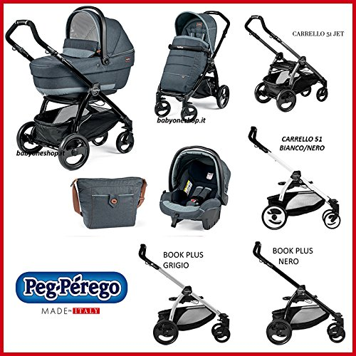 Kombikinderwagen [babyschale+kinderwagen+sportwagen] Book Plus Pop Up Peg Perego Blu denim