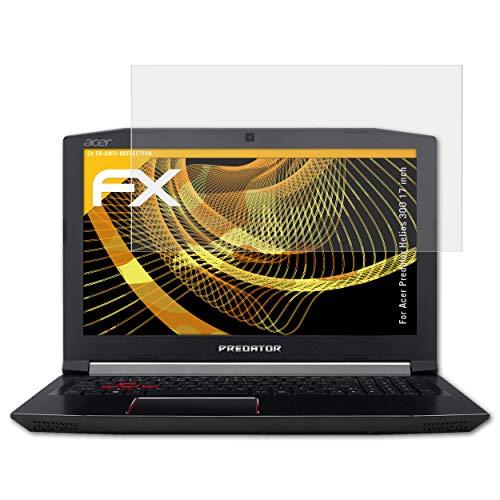 atFolix Panzerfolie kompatibel mit Acer Predator Helios 300 17 inch Schutzfolie, entspiegelnde & stoßdämpfende FX Folie (2X)