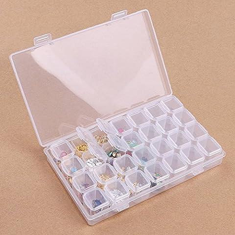 Zerozero utile Manucure Nail Art Stickers en métal Perle Strass Ongles support coque avec 28Boîte de séparation