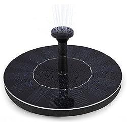 LEDGLE Pompe à eau flottante solaire de 1.4W Mini Pompe à eau de jardin pour la cour, flux 150L / H