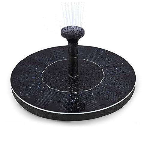 LEDGLE 1.4W Solar Floating Fountain Pump Mini Garden Water Pump for Courtyard, Flow 150L/H