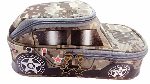 Gifts Online Car Shape Multipurpose Pencil Pouch With 2 Compartments - Big Size (Color may vary)