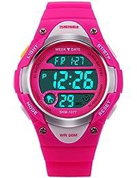 Pink Girls LED Digital Sport Watch, 5 ATM Waterproof, for Kids 10+ yrs Old