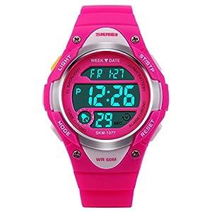 Digitale Armbanduhr, 5 ATM Wasserdichte LED Uhren, für Kinder 10+ Jahre Alt