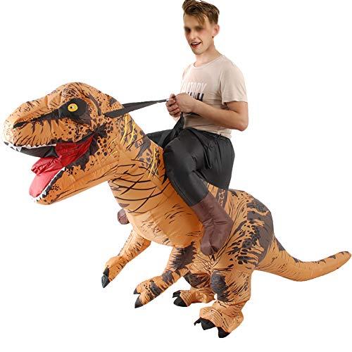 XXLLQ Aufblasbares KostümRitt auf Dinosaurier Karnevalskleid Halloween Erwachsene aufblasbare Dinosaurier-Partei-Kostüm Lustige Kleid A Inflatable Costume Party Fancy Dress (Halloween Illusion Kostüm)