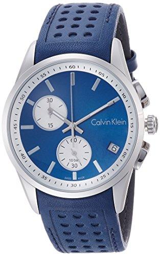 Calvin Klein Orologio Cronografo Quarzo Uomo con Cinturino in Pelle K5A371VN