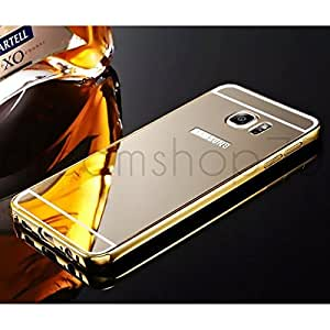 Coque miroir bumper aluminium samsung galaxy s6 edge gold for Miroir high tech