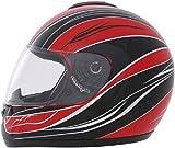 ROADSTAR Integral-Helm Revolution , Dekor Wave rot Größe S