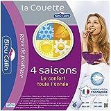 Bleu Câlin Couette 4 Saisons 3 couettes en 1 Blanc 240x260 cm KTD32I