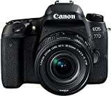 Canon EOS 77D SLR Digitalkamera kit inkl. EF-S 18-55mm 1:4-5,6 is STM Objektiv schwarz